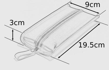 ペチャペンケース TypeR サイズ