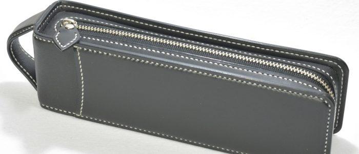 ペンケース レクタングラー オーダーメイド (逆向き定規ポケット)
