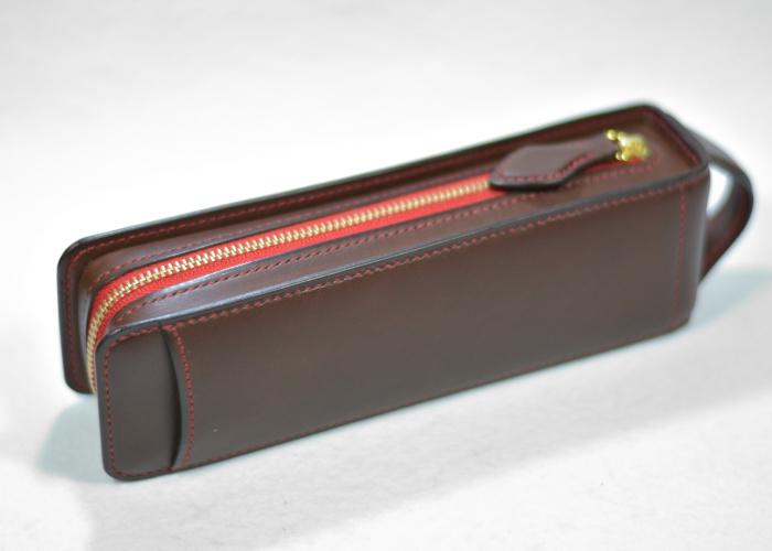 レクタングラー ファスナーテープカラー レッド 内ポケット・定規ポケット付き photo2