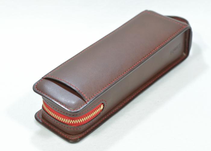レクタングラー ファスナーテープカラー レッド 内ポケット・定規ポケット付き photo1