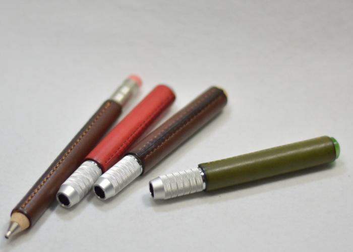 鉛筆補助軸革巻き photo2