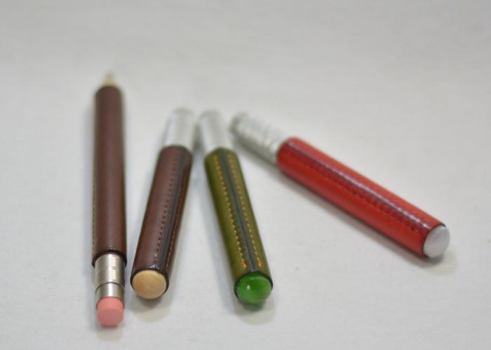 鉛筆補助軸革巻き photo3